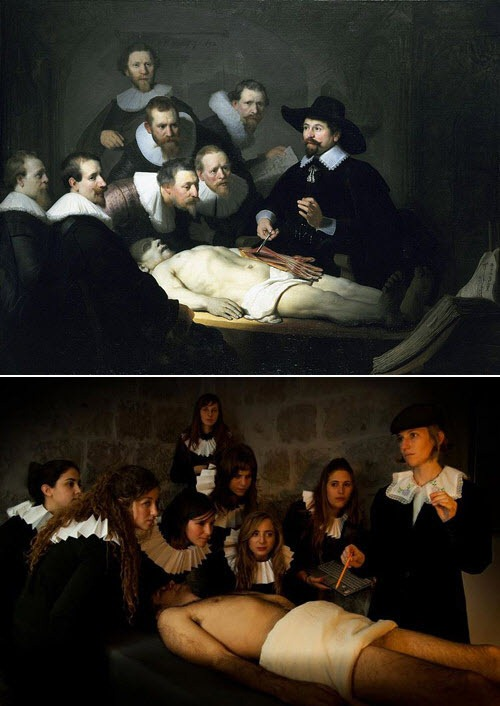 Foto-Remake des berühmten Gemälden