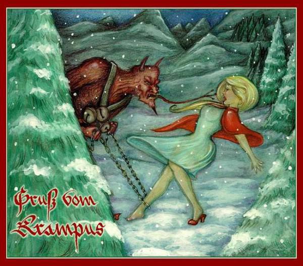 in teilen von europa krampus wurde sogar in die jahrliche tradition der weihnachtskarten integriert zum beispiel sprechenden auf deutsch landern finden sie