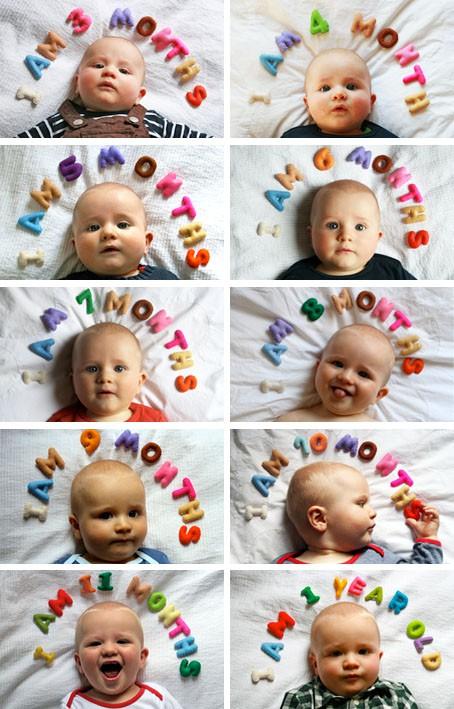 Baby Foto Ideen 8 beste monatliche baby-foto-ideen