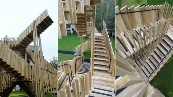 diese endlose treppe ist ein m c escher zeichnung kommen. Black Bedroom Furniture Sets. Home Design Ideas