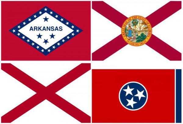 flagge der konföderierten staaten von amerika
