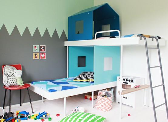 Ihre Kinder Raum Ein Etagenbett Farbe Hinzufügen!