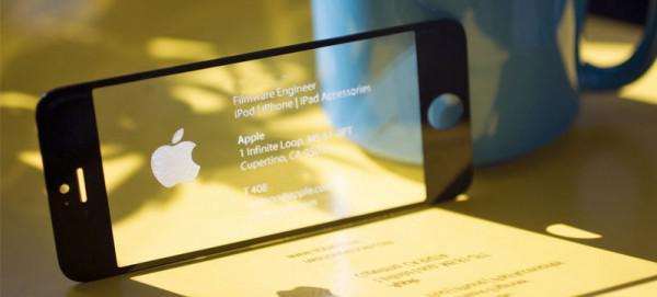 Natürlich Hat Ein Apple Ingenieur Ein Iphone Visitenkarte