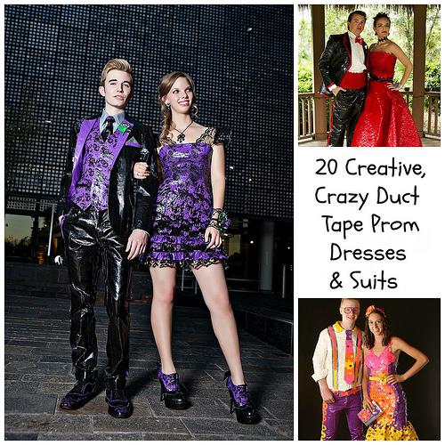 20 kreative, erstaunliche und verrückte Duct Tape Prom Kleider (und ...
