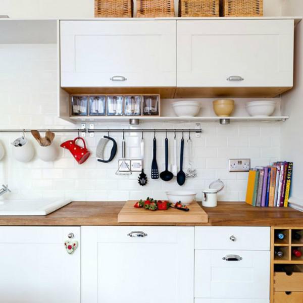 7 cleveren Aufbewahrungsideen für eine kleine Küche