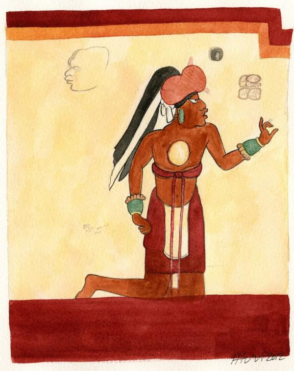 bild schrift der maya