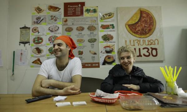 Die syrischen Flüchtlinge Gastronomen würzen armenische Küche