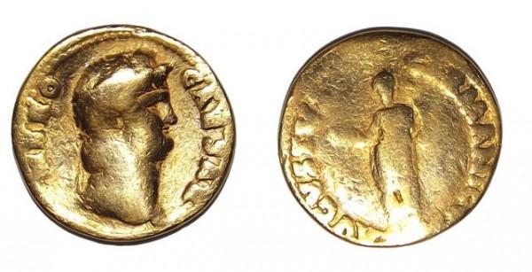 Altes Geld Seltene Roman Nero Münze Ausgegraben In England