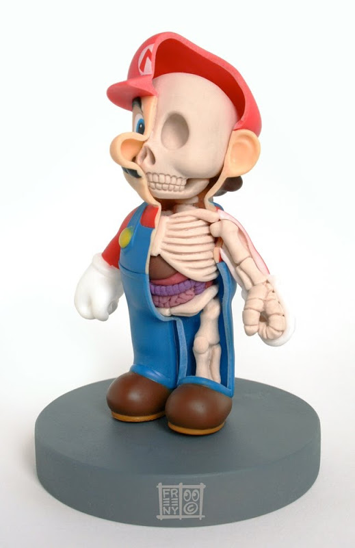 Anatomische Comic-Figuren von Jason Freeny