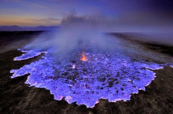 Blaue Lava