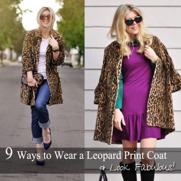 9 Möglichkeiten, Ein Leopard Tragen Drucken Mantel Jetzt! 1 Von 10