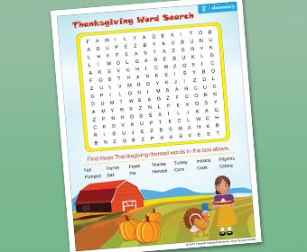 Thanksgiving-Arbeitsblätter und Aktivitäten, um Kinder zu beschäftigen