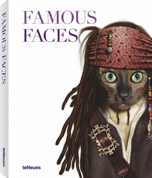 Tiere, die verkleidet als berühmter Persönlichkeiten