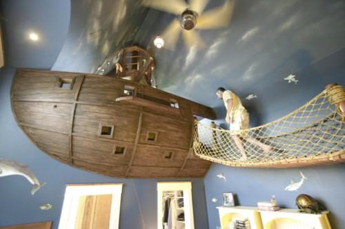 Eindrucksvollsten Kinderzimmer Piraten Schiff Zimmer Fur Eine Gluckliche Junge